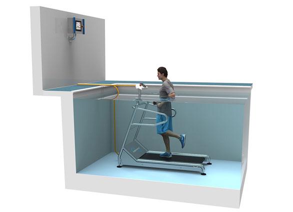 Fusion Freestanding Pool Treadmill